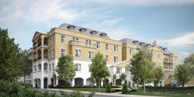 Visualisation of the new luxury apartments being built as part of a retirement complex in Sherborne Picture: Platinum Skies