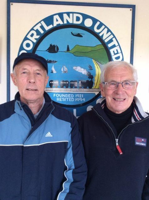 Dorset Echo: Robin Satherley, left, was the Blues' last permanent chairman Picture: PUFC