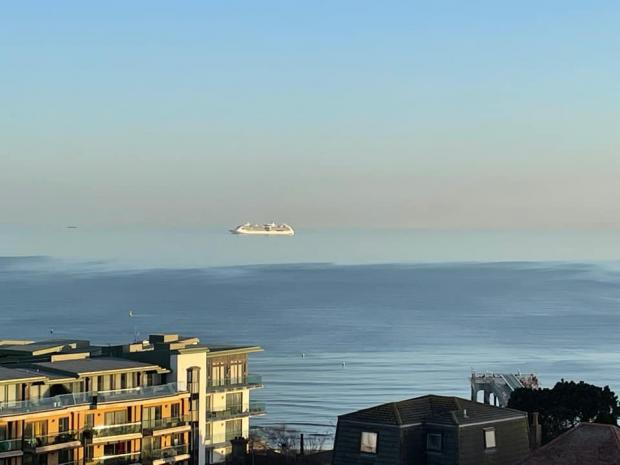 Dorset Echo: Lyn Moreland captured this shot from her Boscombe balcony