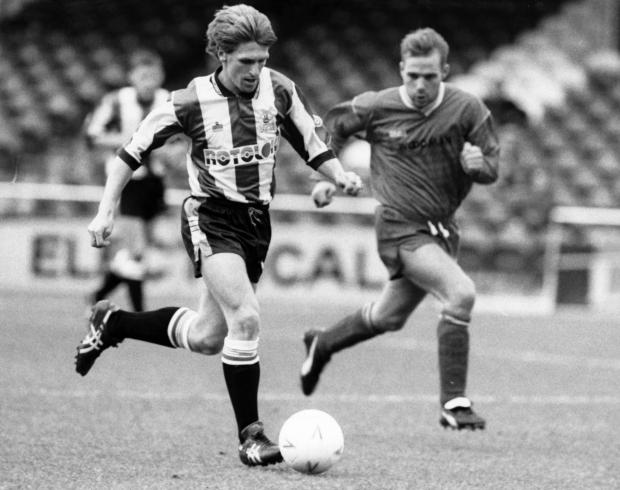 Dorset Echo: Kevin Hodges, left, playing for Plymouth in 1992 Picture: PLYMOUTH HERALD