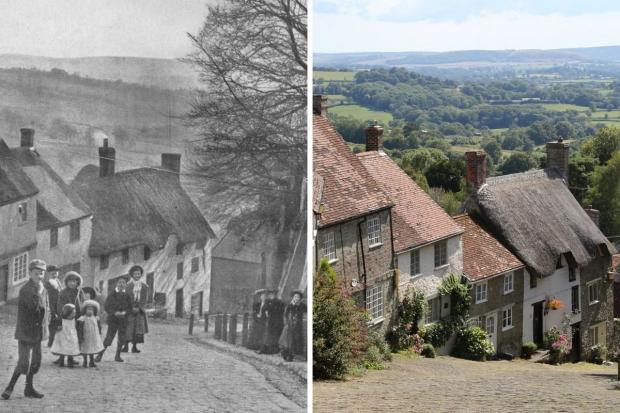 Compare old pictures of scenic spots across Dorset with recent years