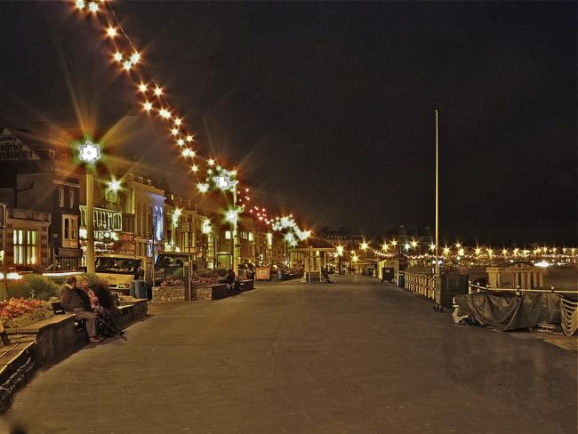 THE WAY WE WERE: The fairy lights on Weymouth seafront Picture: Jim Perkins