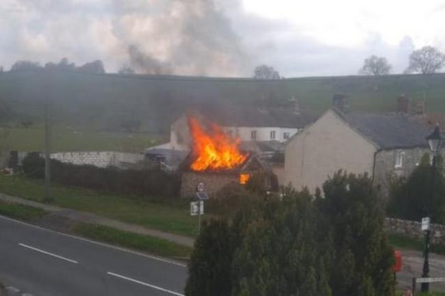Workshop fire at Charminster near Dorchester Picture: Dorchester Fire Station