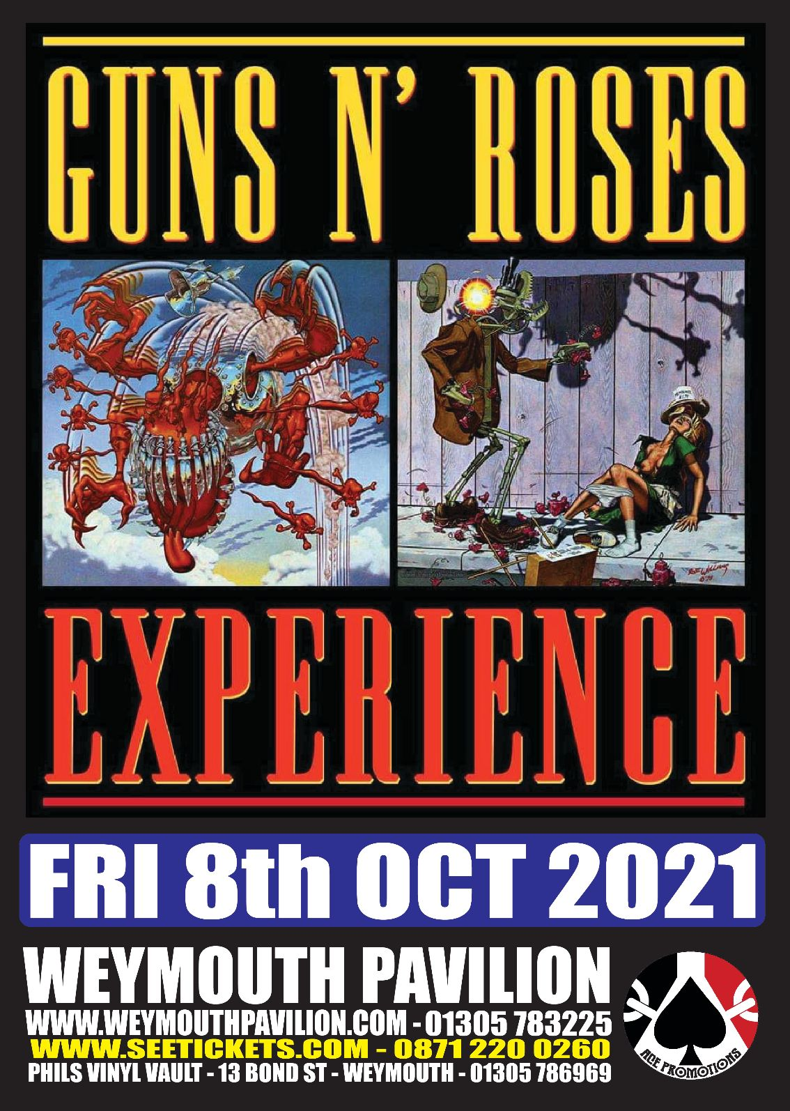 Guns and Roses Experience @ Weymouth Pavilion (  Ocean Room )