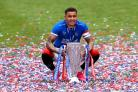 James Tavernier with the Scottish Premiership title