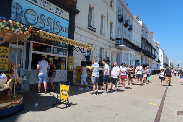 Dorset Echo: Rossi was popular as always on Bank Holiday Mondays.  Image: Dorset Echo