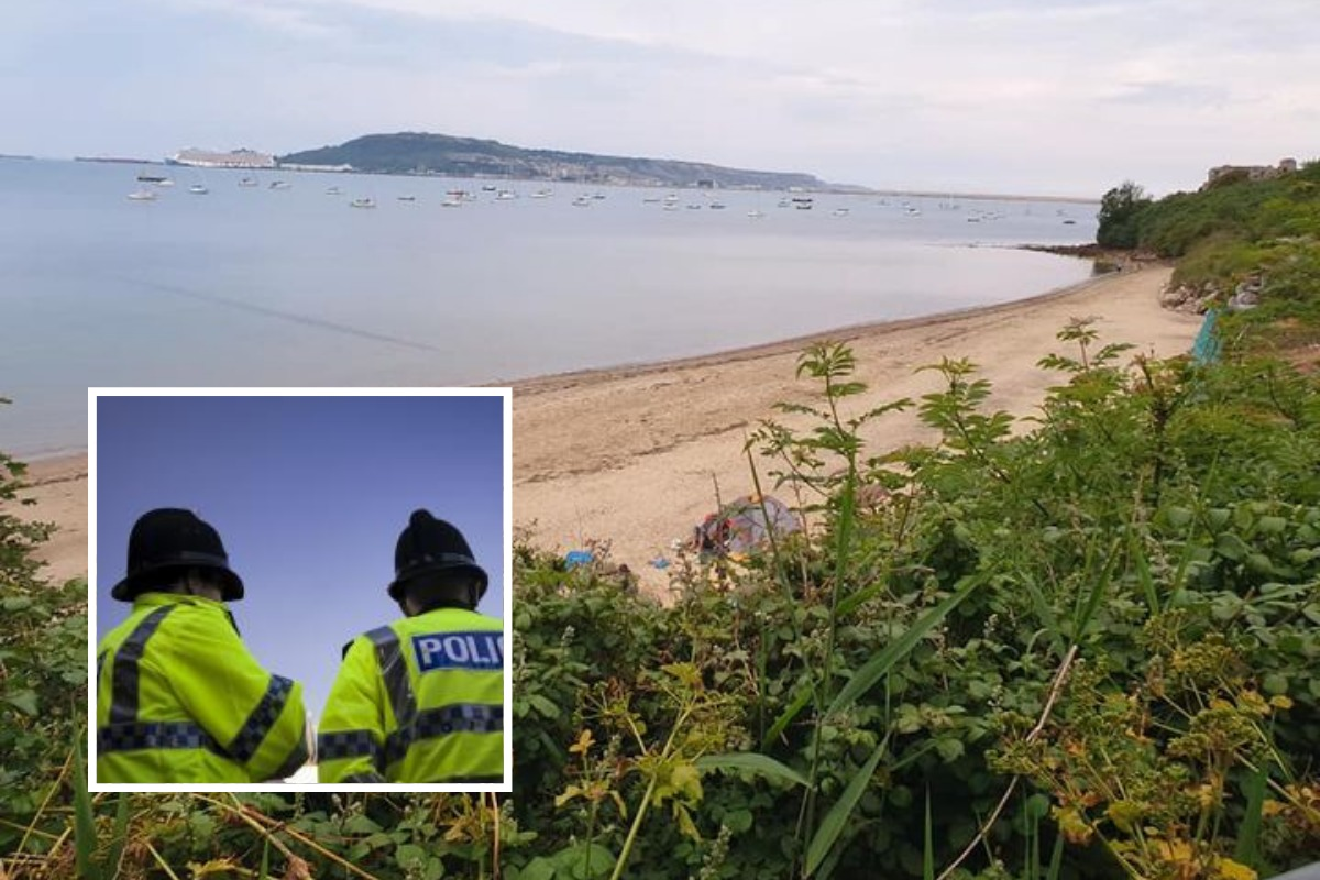 Police called to group of beach campers 'causing anti-social behaviour'