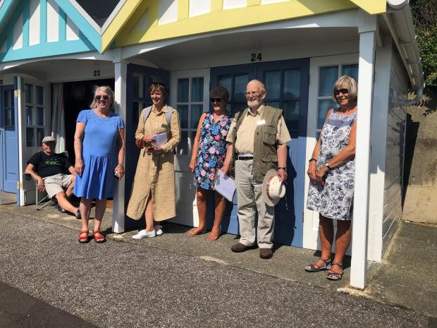Dorset Echo: Judges of Britain in Bloom with Ladies of Greenhill CIC Photo: Dorset Echo