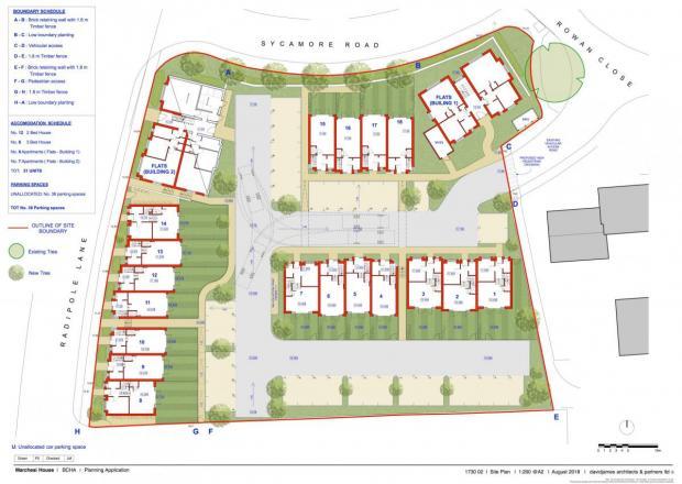 Dorset Echo: Layout of the new houses Photo: BCHA