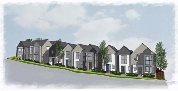Dorset Echo: Artist's impression of the new houses Photo: BCHA
