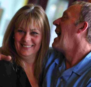 Christine and Ian James celebrate their successes at Westham North and East