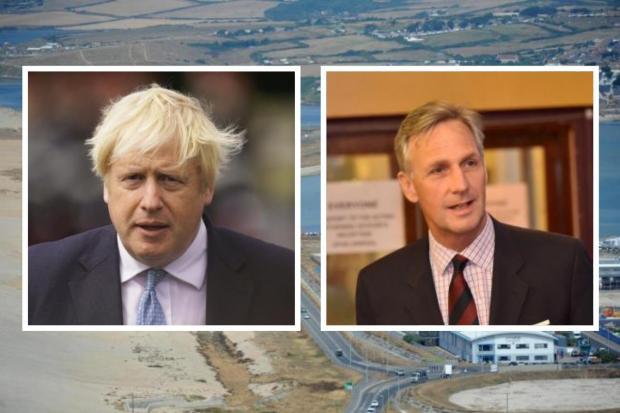Dorset Echo: Prime Minister Boris Johnson and MP Richard Drax
