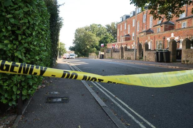Dorset Echo: Road closure on Wyke Road, Weymouth. Picture: Dorset Echo