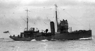 CREST OF A WAVE:  The original HMS Osprey from the 1920s