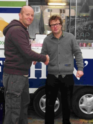 Shaun Hatton with Hugh Fearnley-Whittingstall