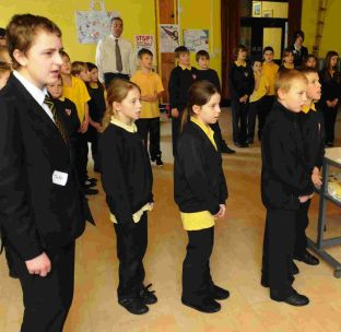 Southwell Primary School Year 5 pupils take part in a music and singing workshop