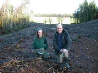 English Heritage's Pete Wilson and Laurence Degoul of The Forestry Commission