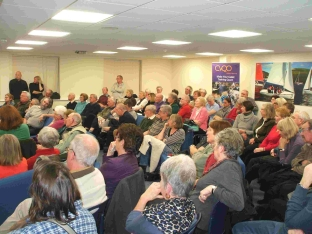 More than a hundred people attended the Friends of Nothe Gardens open meeting