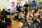 Singing Friar Francis at St Mary's Catholic First School