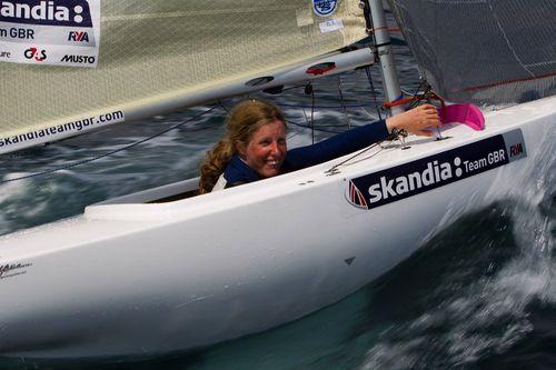 Megan Pascoe, 2.4m sailor at the Hyeres Olympic Week, France. PICTURE: Skandia Team GBR