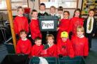 Pupils from Year Two to Year Four sort waste at St Mary's Catholic First School in Dorchester