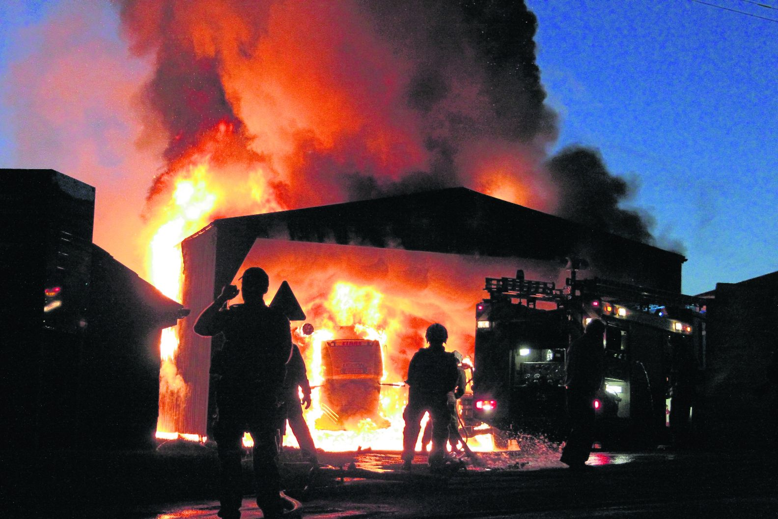 Firefighters save homes after barn inferno near Dorchester