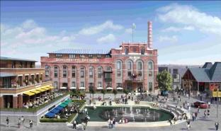 Artist's impression of the Brewery Square Hotel