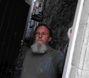 RAIDED: Geoff Tizzard-King at the Hope United Reformed Church in Trinity Street, Weymouth