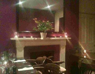 INTIMATE PLACE FOR A SPECIAL OCCASION: Perry's Restuarant interior in Trinity Road, Weymouth.