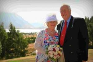 HAPPY COUPLE: Trish Warren and Terry Bown