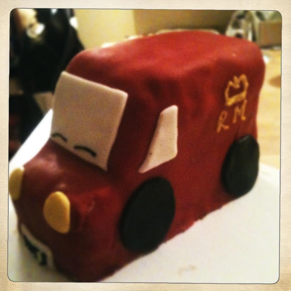 A Postman Pat van cake I made for my nephew's 2nd birthday