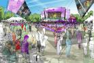 SHAPE OF THINGS TO COME: The design for London Live in Hyde Park which will also be used in Weymouth