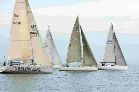 DOUBLE DEAL: Class one boats on the water at the Weymouth Double