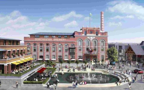 An artist's impression of phase 2B of the Brewery Square development