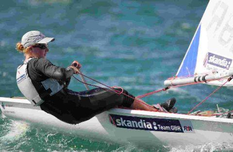 OUT IN FRONT: Portland's Alison Young in the Laser Radial class