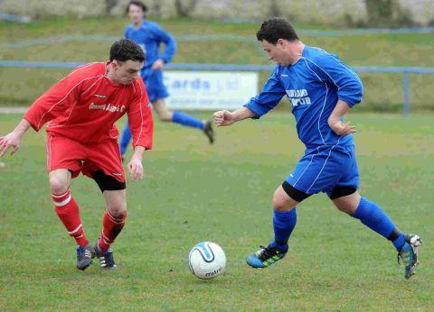 PENALTY KING: Alex Halloran, right, will be hoping to fire the Blues to victory again tomorrow
