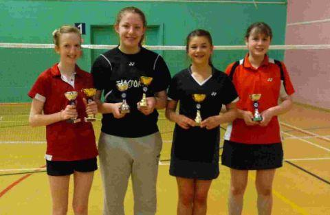 TOP GIRLS: Sophie Males, Chloe Wakely, Bernice Dore, Rebekah Blinman