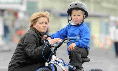 Five-year-old Harry Besant with mum Clair
