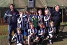 CHAMPIONS: Under-10 winners Dorchester Town Raiders
