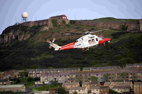SAVE IT NOW: The Portland Coastguard helicopter