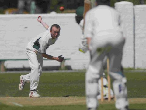 REACHING HIS PEAK: Mike Peak took four wickets