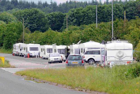 Travellers at the weighbridge area near Puddletown