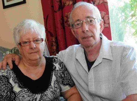 Dorset Echo: GRATEFUL: Colin and Grace McFarlane, parents of Purbeck Isle skipper David McFarlane