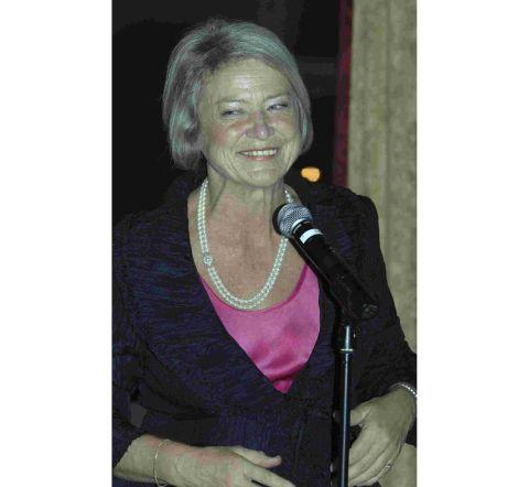 Dorset Echo: Katie Adie at a campaign fundraising event in the village