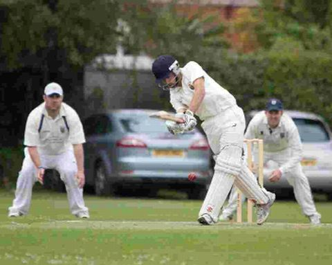 CRUCIAL KNOCK: Weymouth watch on as Tom Jacques hits a boundary