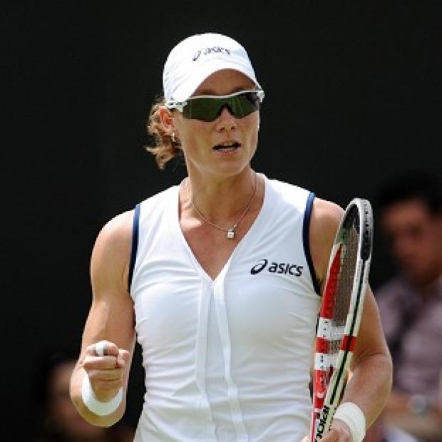 Sam Stosur raced through her opening match at Wimbledon