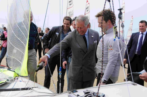 Prince Charles drops in to sailing academy
