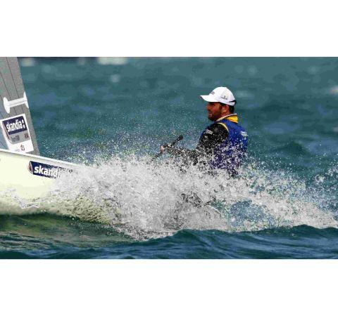 Great Britain's Ben Ainslie in action