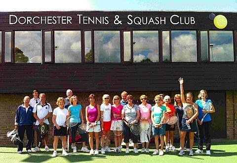 HAVING A BALL: Happy members celebrate the recent renovations at Dorchester Tennis & Squash Club