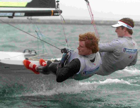 GOLD STANDARD: Olympic sailors Ben Rhodes and Stevie Morrison
